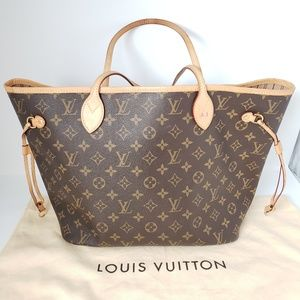 a85c4f90c041 100% Auth Louis Vuitton Neverfull MM Tote Bag